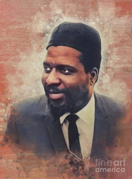 Wall Art - Painting - Thelonious Monk, Music Legend by John Springfield