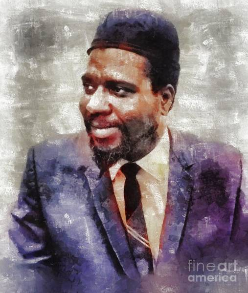 Wall Art - Painting - Thelonious Monk, Music Legend by Mary Bassett