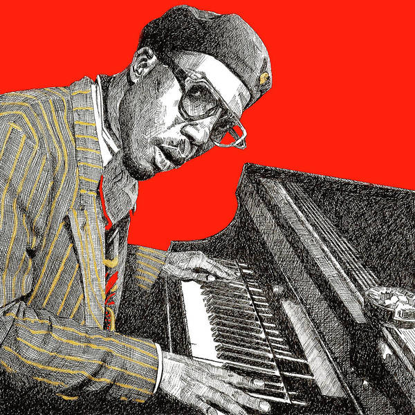 Pen And Ink Mixed Media - Thelonious Monk by Renee Lawrence