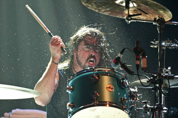 Drum Photograph - Them Crooked Vultures Perform At by Neil Lupin