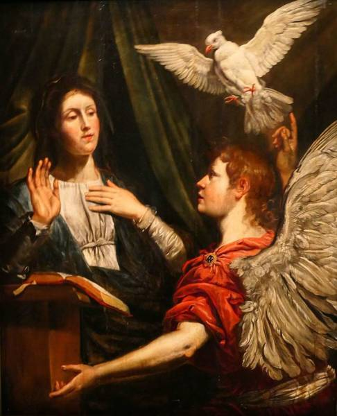 Payment Painting - Theodor Van Loon   The Annunciation   1600 1649 by Celestial Images
