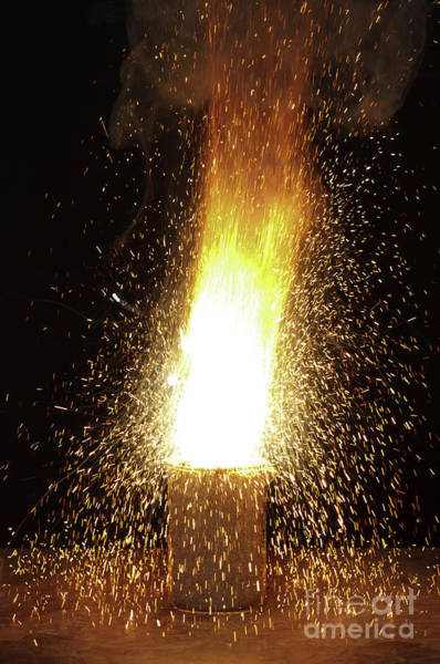Photograph - Thermite Reaction by Turtle Rock Scientific