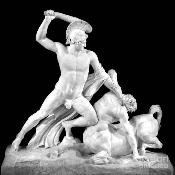 Wall Art - Photograph - Theseus Slaying The Centaur, By Antonio Canova by Douglas Taylor