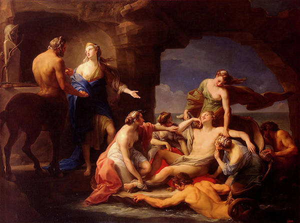Painting - Thetis Takes Achilles From The Care Of Chiron by Pompeo Batoni