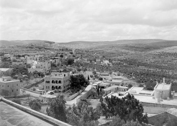 Wall Art - Photograph - The View From Bethlehem University 1950 by Munir Alawi