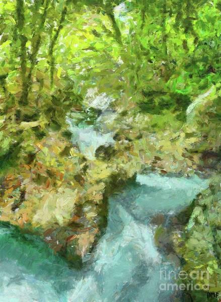 Wall Art - Painting - The Water Hurst Of Sunik  by Dragica Micki Fortuna