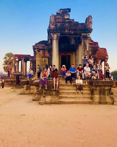 Wall Art - Photograph - They Come To See Angkor Wat, Siem Reap, Cambodia by Madeline Ellis