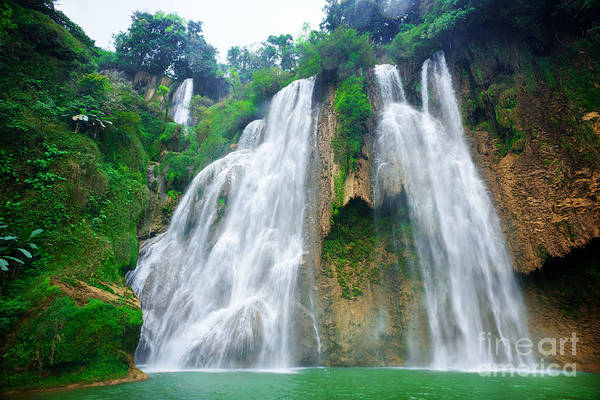 Los Wall Art - Photograph - Thi Lo Sutee Lor Su Waterfall In by Nor Gal