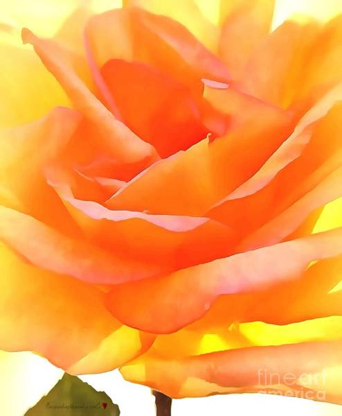 Painting - Thin Floral In Thick Paint by Catherine Lott