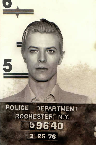 Wall Art - Photograph - Thin White Duke Arrested 1976 by Daniel Hagerman