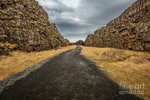 Wall Art - Photograph - Thingvellir In Iceland, Where You Can Walk Between Two Continent by Jamie Pham