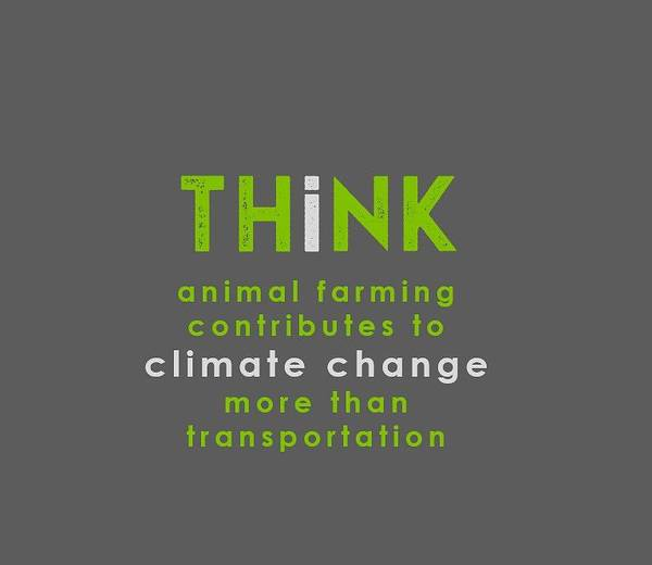 Drawing - Think Climate Change - Green And Gray by Charlie Szoradi