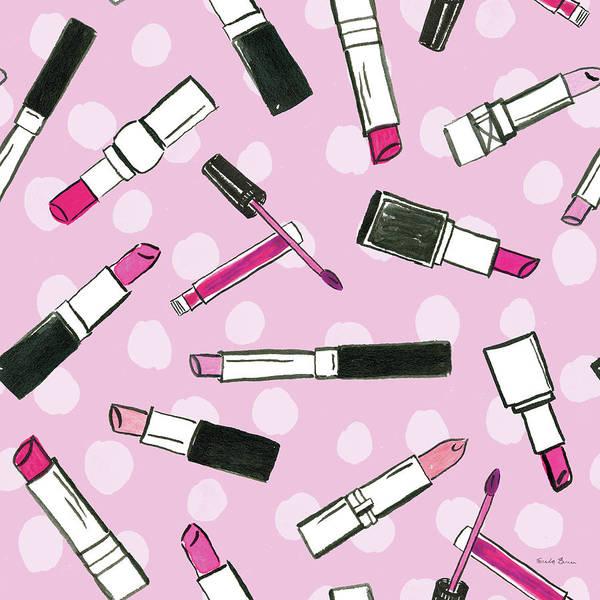 Girly Painting - Think Pink Pattern Iva by Farida Zaman