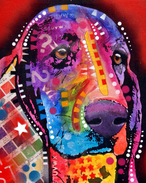 Wall Art - Painting - Thinking Basset by Dean Russo Art