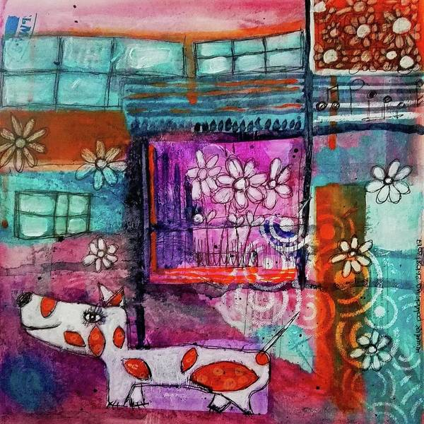 Mixed Media - Thinking Happy Thoughts by Mimulux patricia No