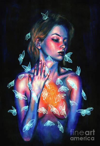 Wall Art - Painting - Thinking Of You  by Olesya Umantsiva
