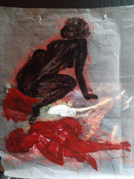 Mixed Media - Thinking With The Dark Side by Siobhan Dempsey