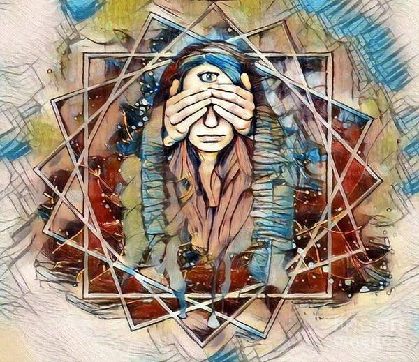 3rd Eye Mixed Media - Third Eye - Awakening by Rogue Art