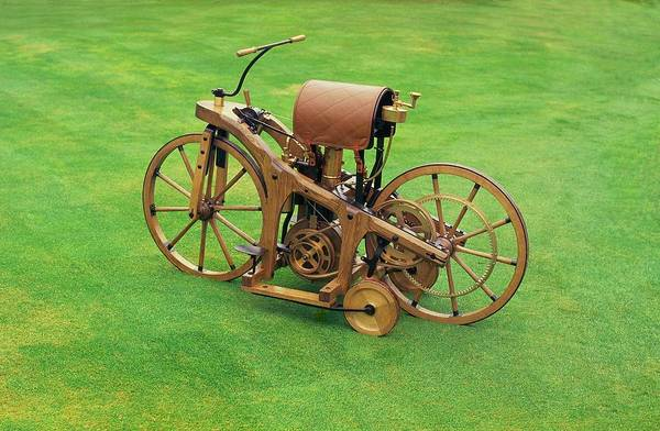 Wall Art - Photograph - This 1885 Daimler Motorcycle Is Thought by Car Culture