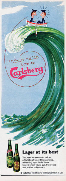 Lager Photograph - This Calls For A Carlsberg by Picture Post