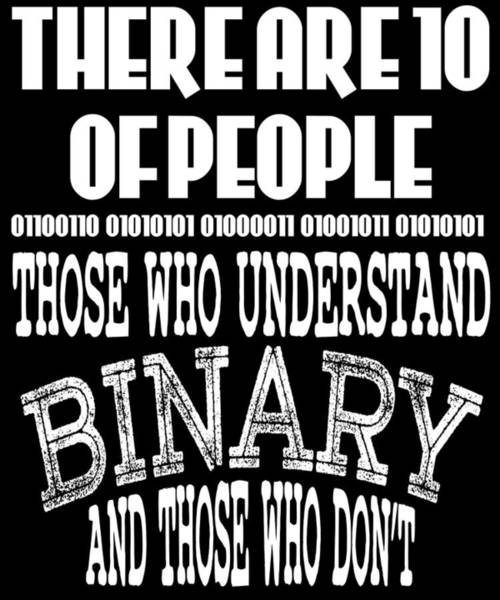 Processing Mixed Media - This Is A Funny Perfect Gift For Computer Users Geekswho Can Understand Binary And Those Who Dont by Roland Andres