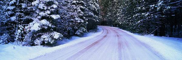 Wall Art - Photograph - This Is A Snow Covered Winter Road In by Visionsofamerica/joe Sohm