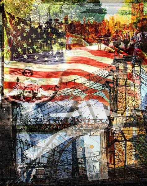 The Empire State Building Digital Art - This Is America by Kyle Willis