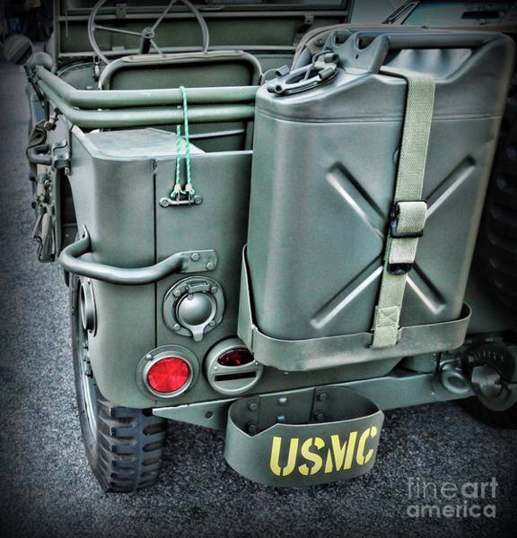 Wall Art - Photograph - This Jeep Belongs To A Us Marine by Paul Ward