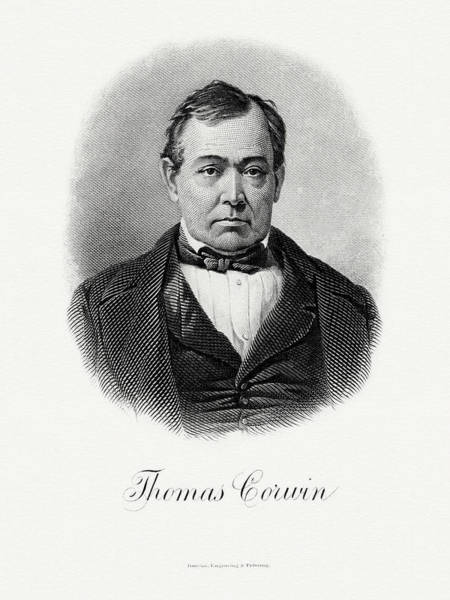 Wall Art - Painting - Thomas Corwin by The Bureau of Engraving and Printing