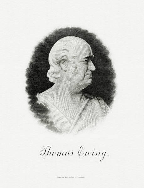 Wall Art - Painting - Thomas Ewing by The Bureau of Engraving and Printing
