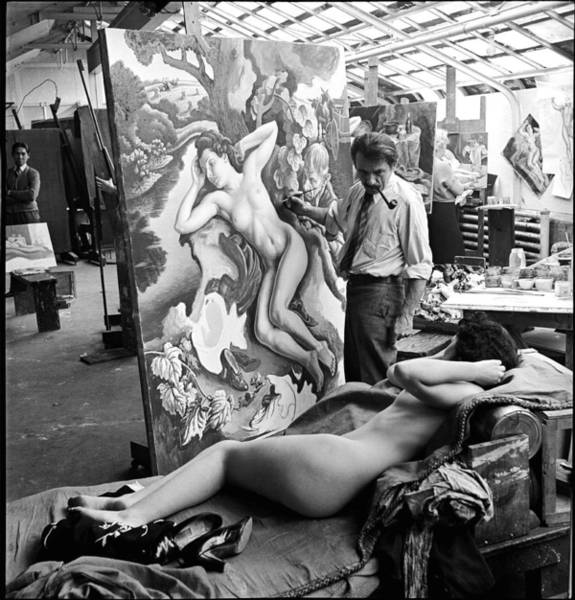 Photograph - Thomas Hart Benton In The Studio by Alfred Eisenstaedt