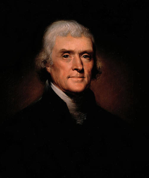 Wall Art - Painting - Thomas Jefferson, 1800 by Rembrandt Peale