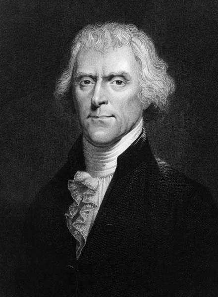 Statesman Wall Art - Digital Art - Thomas Jefferson by Hulton Archive