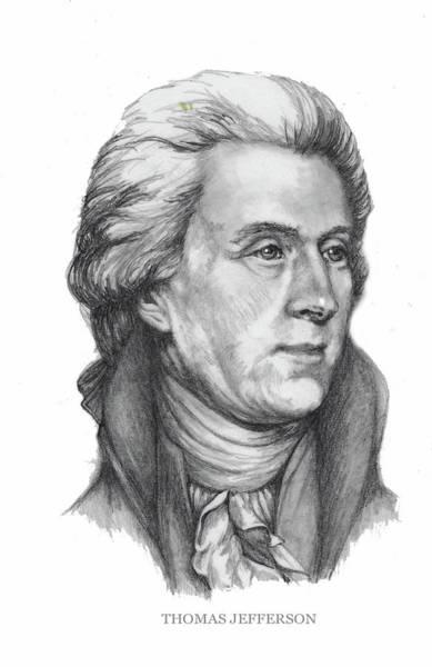 Drawing - Thomas Jefferson by Joan Garcia