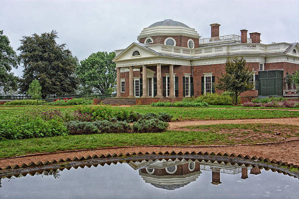 Wall Art - Photograph - Thomas Jefferson's Monticello by Mike Martin