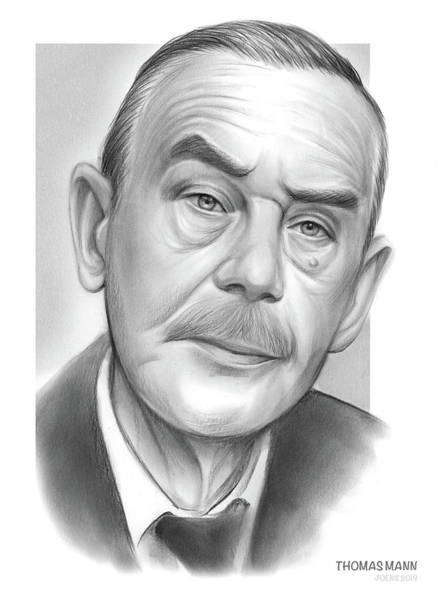 Biblical Wall Art - Drawing - Thomas Mann by Greg Joens