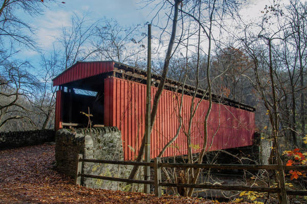 Wall Art - Photograph - Thomas Mill Covered Bridge - Philadelphia Autumn by Bill Cannon