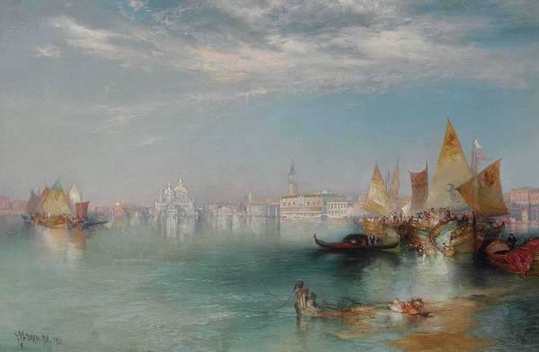 Wall Art - Painting - Thomas Moran 1827-1926  Grand Canal, Venice by Thomas Moran