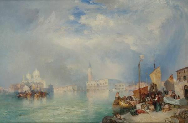 Wall Art - Painting - Thomas Moran 1837 - 1926 Entrance To The Grand Canal, Venice by Thomas Moran