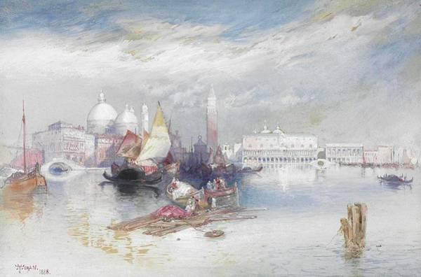 Wall Art - Painting - Thomas Moran 1837-1926  Grand Canal by Thomas Moran