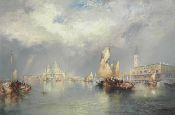 Wall Art - Painting - Thomas Moran 1837-1926  Grand Canal, Venice by Thomas Moran