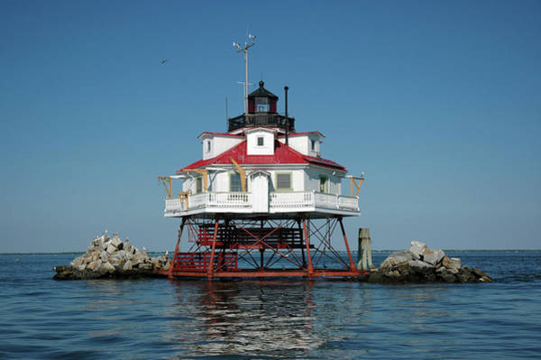 Photograph - Thomas Point Shoal Light by Mark Duehmig