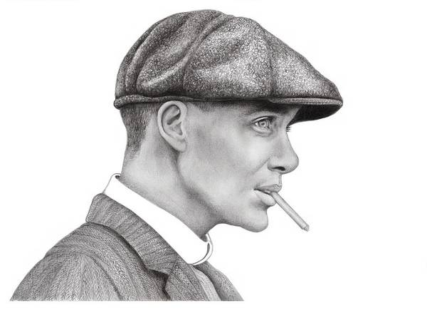 Wall Art - Drawing - Thomas Shelby by Margaret Sanderson