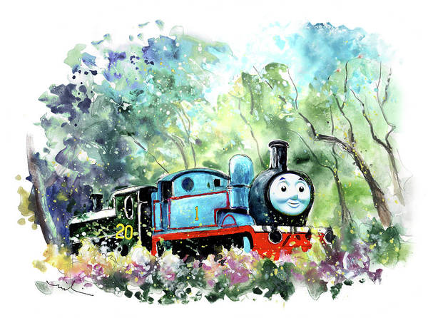 Painting - Thomas The Tank Engine In Buckfastleigh by Miki De Goodaboom