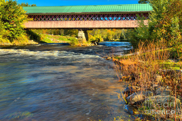 Photograph - Thompson Covered Bridge Over The Ashuelot River by Adam Jewell