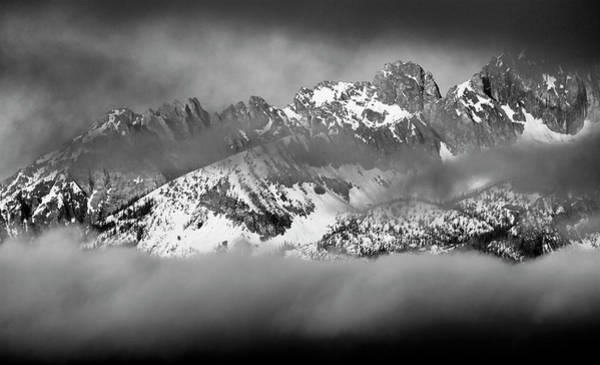 Photograph - Thompson Peak Sawtooth Range Early Morning by Ed  Riche