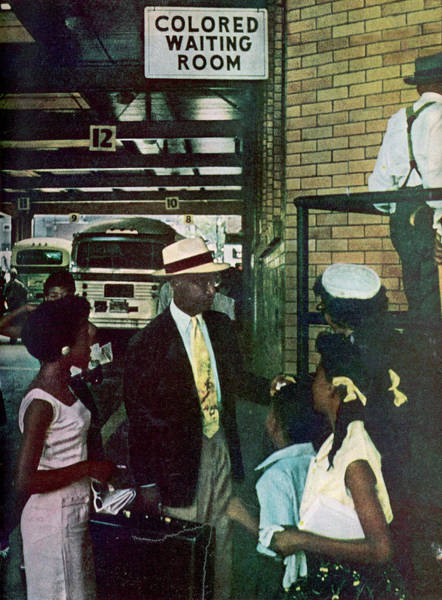 Daughter Photograph - Thornton & Family At Bus Station by Gordon Parks