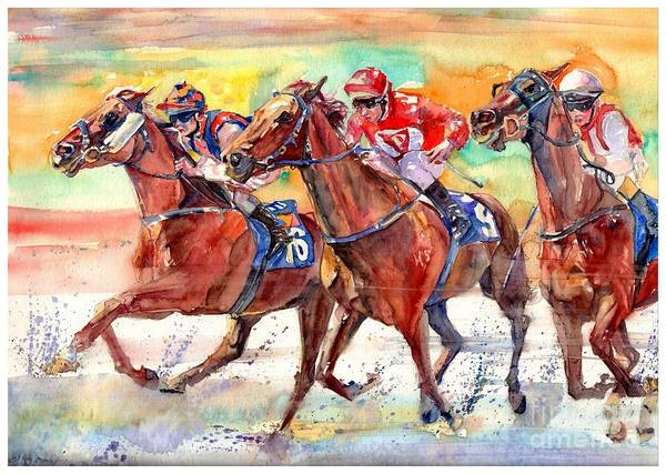 Victory Painting - Thoroughbred Racing by Suzann Sines