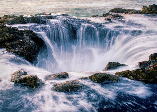 Photograph - Thor's Well Oregon 070219 by Rospotte Photography