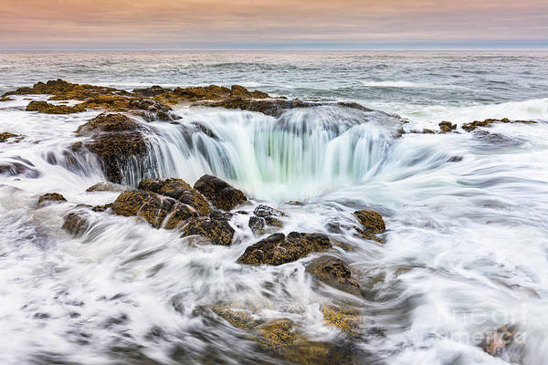 Wall Art - Photograph - Thors Well, Oregon, Usa by Henk Meijer Photography